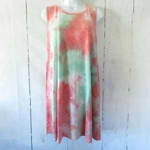 Yee By Umgee Tank Top Tunic Dress Tie Dye